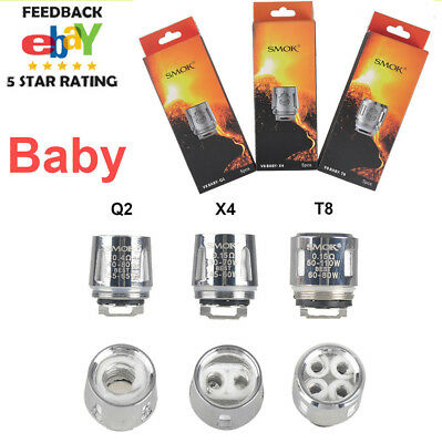 Crazy Sale BABY Smok TFV8 BIG Cloud Beast Replacement Coil V8- Q2 X4 T8 5-15pcs