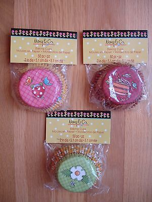 Mary Engelbreit Baking Cups 50 Each Package Paper Cup Cake Liners Lot 3 Packages
