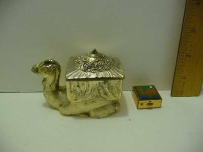 Camel Silver Metal Trinket Jewelry Box & Pill Box with Camel Design