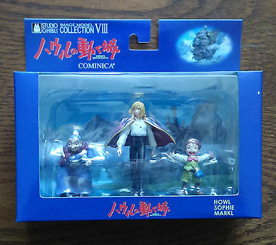 Ghibli Cominica HOWL'S MOVING CASTLE Set of 3 Figures Howl, Sophie, Markl NIB