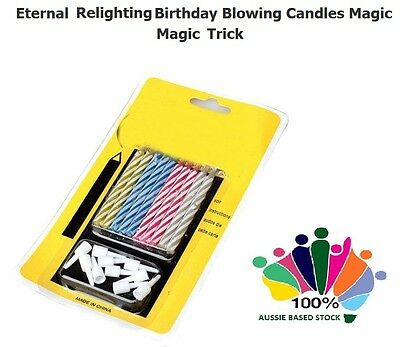 Cool 10 x Novelty Magical Magic Relighting Candles Birthday Party Fun Trick