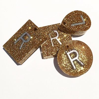 Gold Radiography X Ray Markers, Pair Of Xray Markers Add Initials Or Numbers