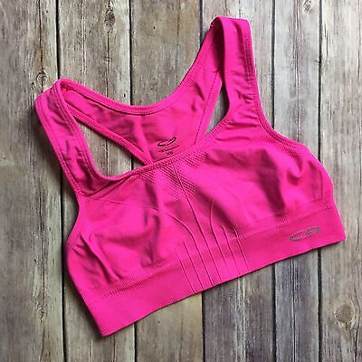 Champion Womens Sports Bra Bright Pink X-Small Stretch Athletic Workout Yoga