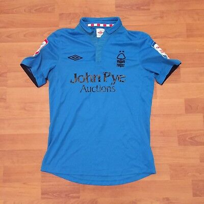 Guy Moussi 19 Nottingham Forest Umbro 2012-13 Away Jersey Shirt Blue Mens S
