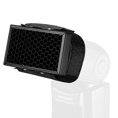 Neewer Mini Honeycomb Grid with Adjustable Fastening Tape for Shoe Mount Flashes