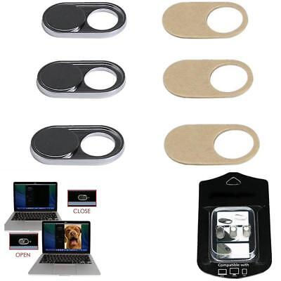 3 Pcs WebCam Shutter Cover Secure for Privacy Open or Close Just Movement Silver
