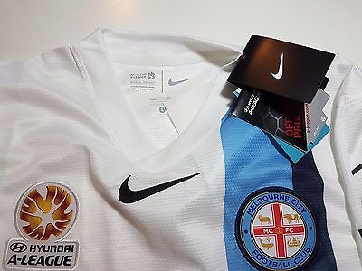 MELBOURNE CITY FC NIKE Home Jersey Shirt Official Soccer Football Kit RRP $90
