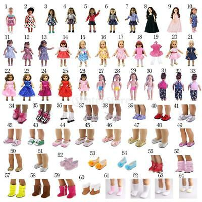 Fashion Clothes Shoes Socks for 18inch American Girl Our Generation My Life Doll