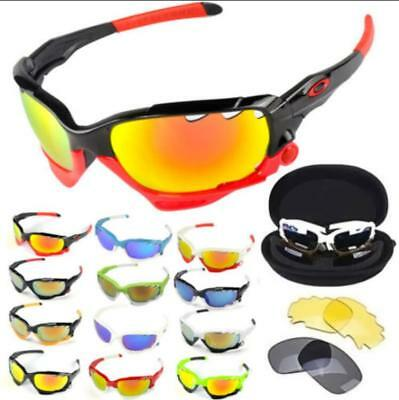 Sun UV 400 Cycling Bicycle Glasses Sunglasses Bike Protection Goggles 3 lenses