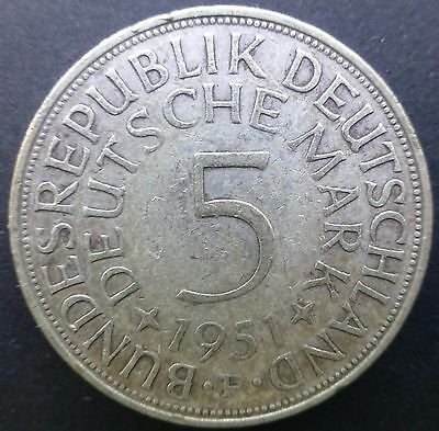 1951 Germany 5 Mark Silver Coin