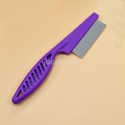 New Fine Toothed Flea Flee Metal Nit Head Hair Lice Comb with Handle CA