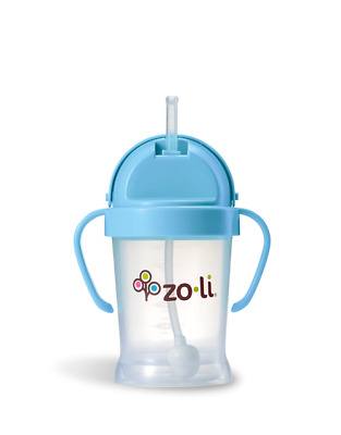 ZoLi BOT Straw Sippy Cup | Blue