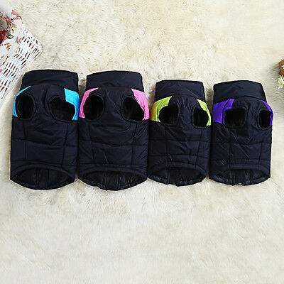 Soft Dog Jacket Padded Waterproof Pet Dog Clothes Winter Warm Vest Coat