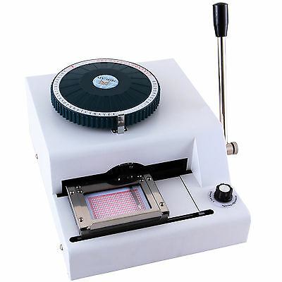 Letter Manual Embosser Stamping Machine 68 Character PVC Credit Card Embossing