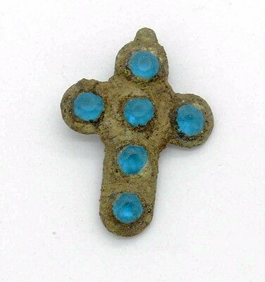 Medieval Viking Period Cross with gemstones