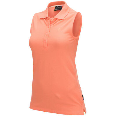 Peak Performance Polo Shirt W G SL PIQ - orange Golfsport Damen NEU UVP 55,-