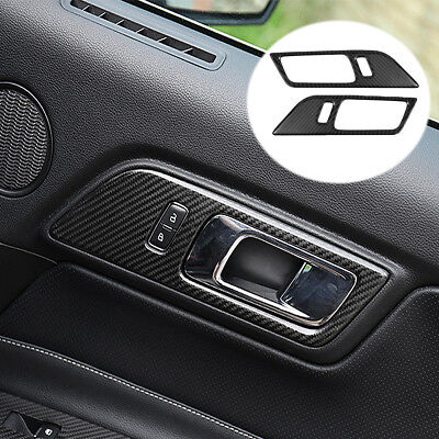 AU 2Pcs Interior Door Handle Frame Sticker Protector  For Ford Mustang 2015-17