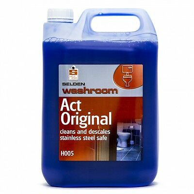 Selden H005 Act Toilet Cleaner and Descaler - 5 Litre Bottle