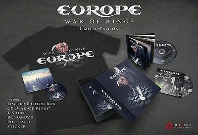 Europe War Of Kings Super Deluxe Edition Cd+Dvd+T-Shirt Nuovo E Sigillato