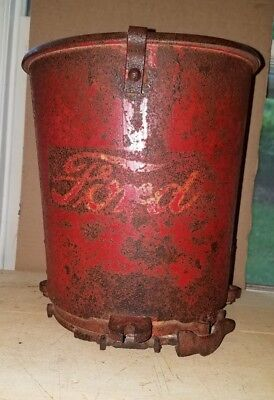 FORD  Antique Tractor Seeder Box Original Paint