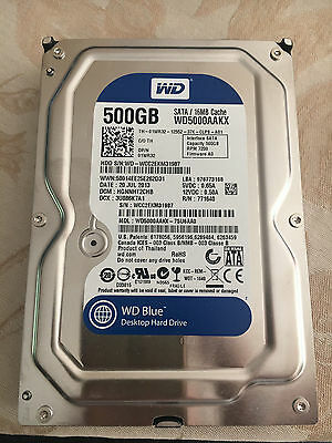 "WD BLUE ""Disque dur interne 500Go 7200RPM 16Mo (WD5000AAKX)"" - occasion"