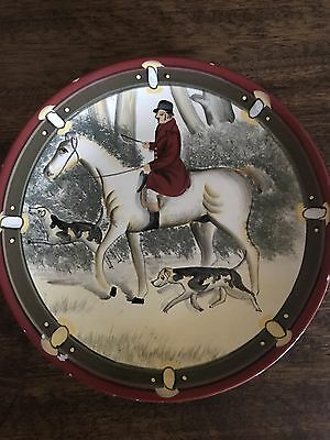 Equestrian Painted Plate