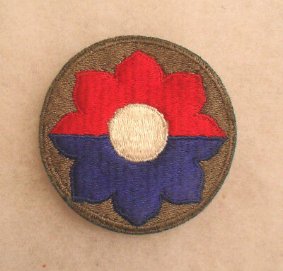 One Of The Most Combat Eto Units Of Wwii 9Th Infantry Division Cotton Cut Edge