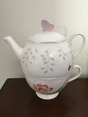 Lenox Butterfly Meadow Stackable Tea Set Bag Holder - excellent condition No Box
