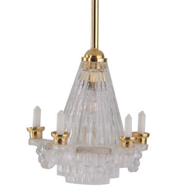 1/12 Scale Dolls House Miniature Lighting Crystalline Chandelier light lamp