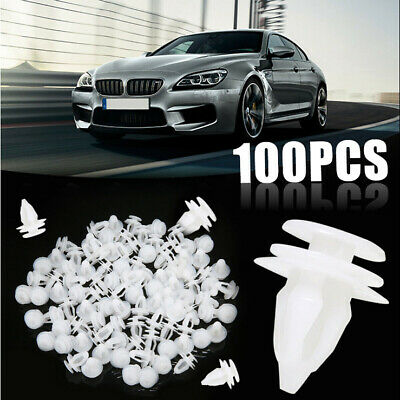 100pcs Car Door Trim Fastener Retainer Panel White Clips for Honda Toyota Suzuki