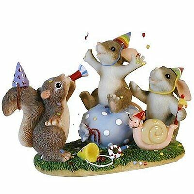 Fitz & Floyd Charming Tails- Party Animals- New in Box- 89/101