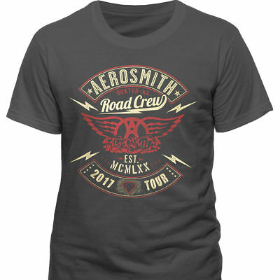 Aerosmith - 2017 Tour Road Crew T Shirt With Backprint - NEW & OFFICIAL