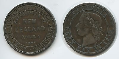 G11800 - Neuseeland 1 Penny 1871 (1874) KM#Tn6 Auckland Licensed Victuallers