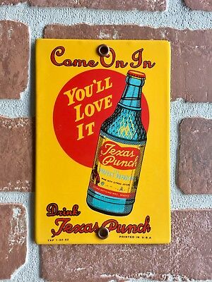 Texas Punch Soda Beverages Porcelain Palm Press. Date Coded, Free Shipping