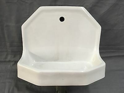 Small Vtg Standard Ceramic White Porcelain Fountain Dental Sink 529-17E
