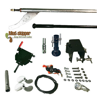 MUD-SKIPPER® EASY Long Tail Mud Motor Kit  8-16hp - 2 Piece Shaft