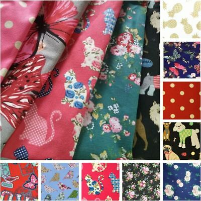 100% Craft Sewing Cotton Patchwork Butterfly Material Metre Half Meter Fabric UK