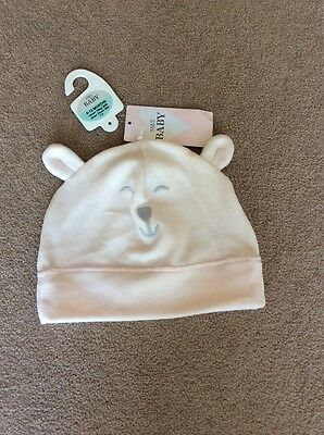BNWT Baby Girl 6-12 Months M&S Pale Pink Hat (Tag £4.00)