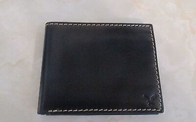 AMERICAN EAGLE OUTFITTERS AEO MENS Navy BLue LEATHER BIFOLD WALLET NWOT