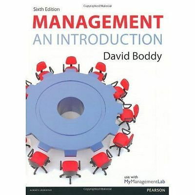 Management: An Introduction by David Boddy (Paperback, 2013)