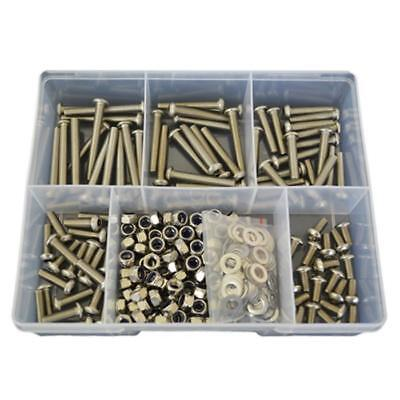 Button Socket Screw Assortment Kit M6 Stainless G304 Screw Bolt Nut Washer #206
