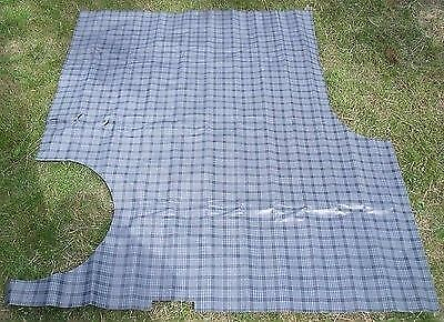 1965 Buick Electra 225 2Door Aqua Houndstooth Rubber 3pc Trunk Floor Mat Cover