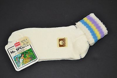 Vtg Hanes Ms. Sports Soft STRIPED TERRY CUFF Women's Athletic Ankle Socks #6