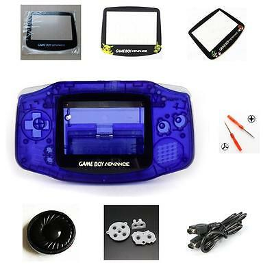 NEW GBA Nintendo Game Boy Advance Replacement Housing Shell Screen Lens Blue!