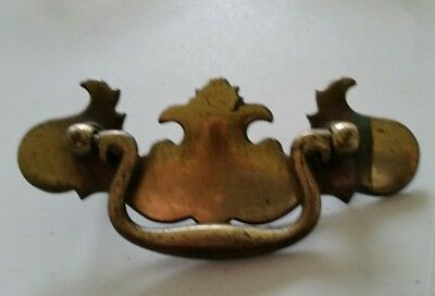 "One Decorative  Old,metal  Drawer Pull Handle  3"" Ctr To Ctr  (409)"