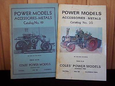 2 Vintage Coles' Power Models Supply Catalogs #19 #20 - 1963
