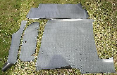 1957-1958 Ford Fairlane 500 Large Ford Plaid Vinyl 3pc Trunk Floor Mat Cover