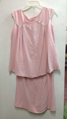Vintage 1950's Maternity Sleeveless Top and Skirt