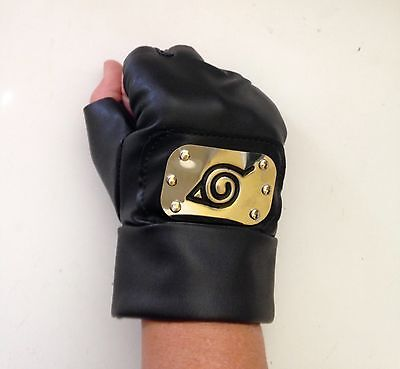 Naruto Hatake Kakashi Gloves by Relaxcos, 2 Pair, For Cosplay, Adult Large