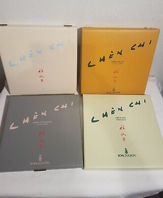"Royal Doulton Chen Chi signed & # Plates 10.5"", set of 4, original boxes PERFECT"